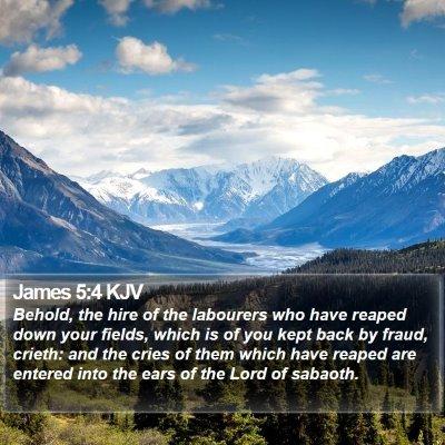 James 5:4 KJV Bible Verse Image