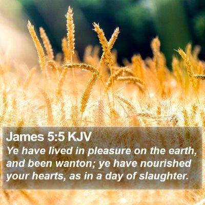 James 5:5 KJV Bible Verse Image