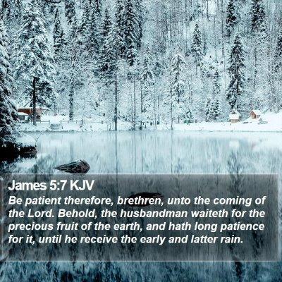 James 5:7 KJV Bible Verse Image