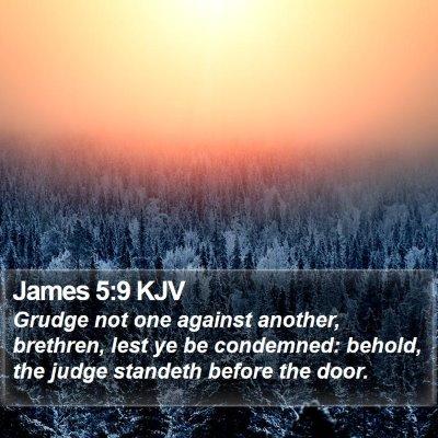 James 5:9 KJV Bible Verse Image