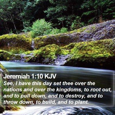 Jeremiah 1:10 KJV Bible Verse Image