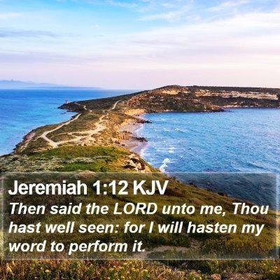 Jeremiah 1:12 KJV Bible Verse Image