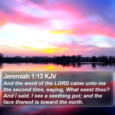 Jeremiah 1:13 KJV Bible Verse Image