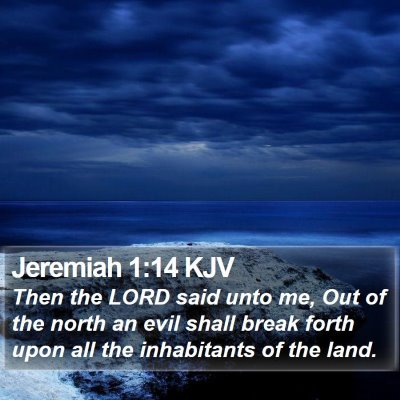 Jeremiah 1:14 KJV Bible Verse Image