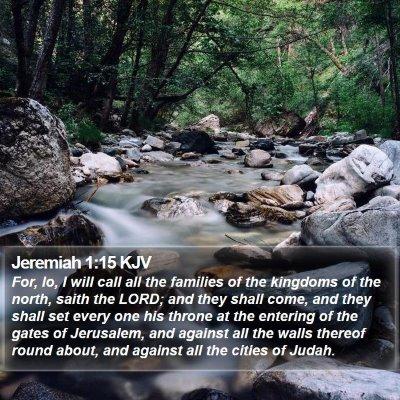 Jeremiah 1:15 KJV Bible Verse Image