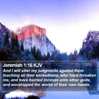 Jeremiah 1:16 KJV Bible Verse Image