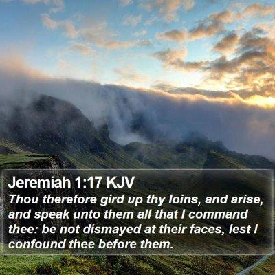 Jeremiah 1:17 KJV Bible Verse Image