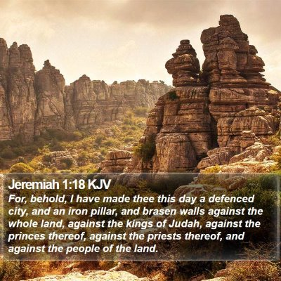 Jeremiah 1:18 KJV Bible Verse Image