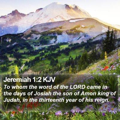 Jeremiah 1:2 KJV Bible Verse Image