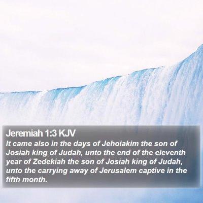 Jeremiah 1:3 KJV Bible Verse Image