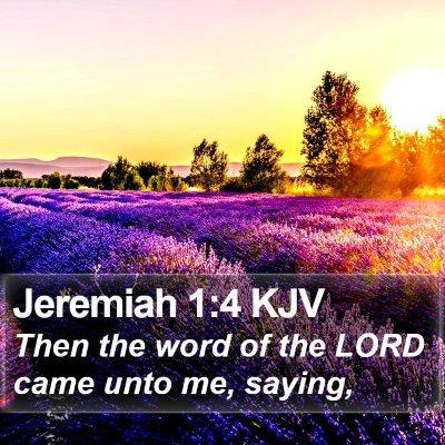Jeremiah 1:4 KJV Bible Verse Image
