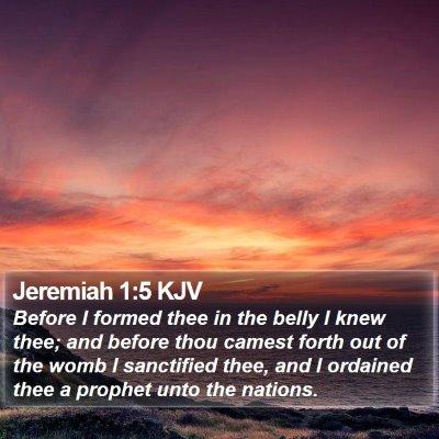 Jeremiah 1:5 KJV Bible Verse Image
