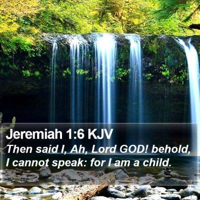Jeremiah 1:6 KJV Bible Verse Image