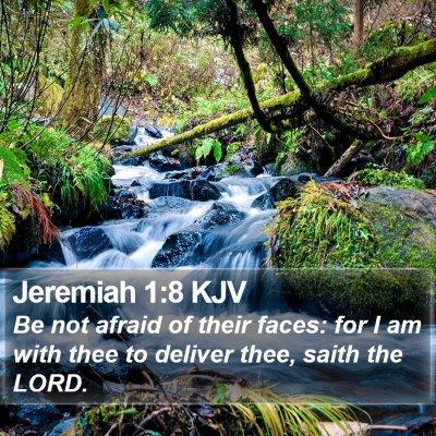Jeremiah 1:8 KJV Bible Verse Image