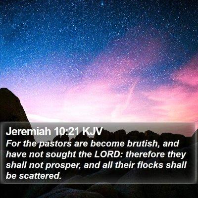 Jeremiah 10:21 KJV Bible Verse Image