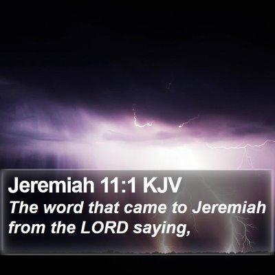 Jeremiah 11:1 KJV Bible Verse Image