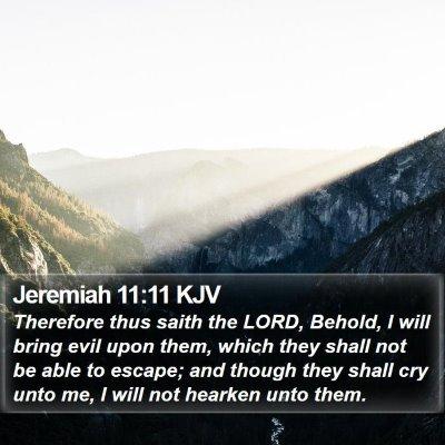 Jeremiah 11:11 KJV Bible Verse Image
