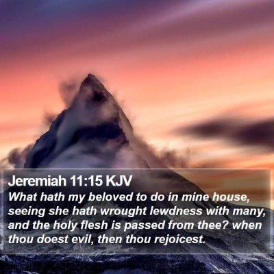 Jeremiah 11:15 KJV Bible Verse Image