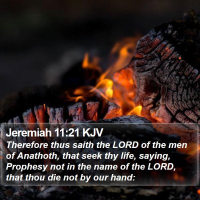 Jeremiah 11:21 KJV Bible Verse Image