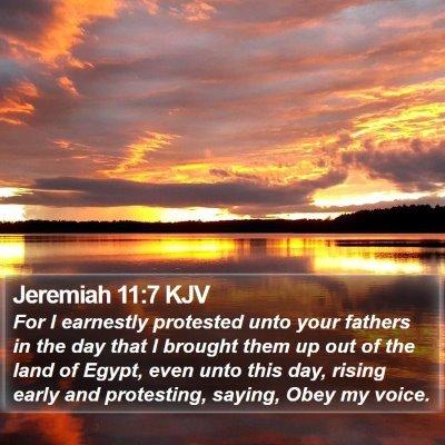 Jeremiah 11:7 KJV Bible Verse Image