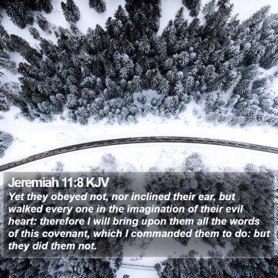 Jeremiah 11:8 KJV Bible Verse Image