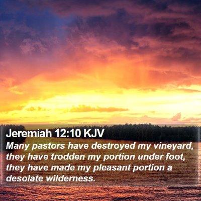 Jeremiah 12:10 KJV Bible Verse Image