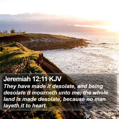 Jeremiah 12:11 KJV Bible Verse Image