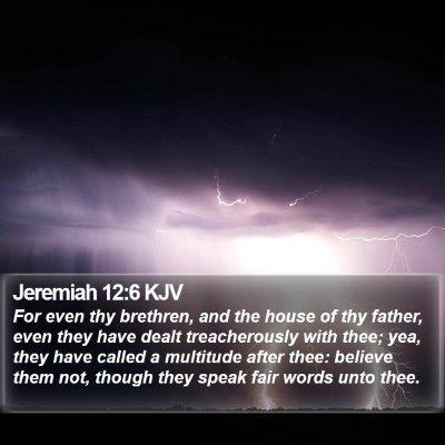Jeremiah 12:6 KJV Bible Verse Image
