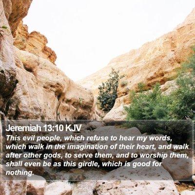 Jeremiah 13:10 KJV Bible Verse Image