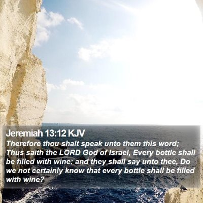 Jeremiah 13:12 KJV Bible Verse Image