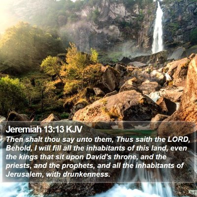 Jeremiah 13:13 KJV Bible Verse Image