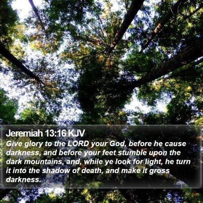 Jeremiah 13:16 KJV Bible Verse Image