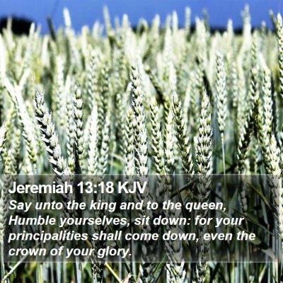 Jeremiah 13:18 KJV Bible Verse Image