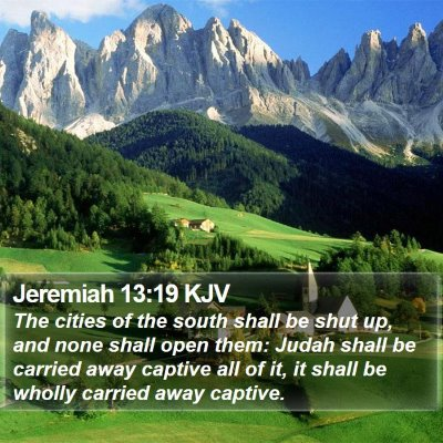 Jeremiah 13:19 KJV Bible Verse Image