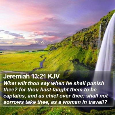 Jeremiah 13:21 KJV Bible Verse Image