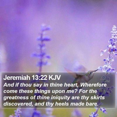 Jeremiah 13:22 KJV Bible Verse Image