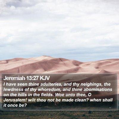 Jeremiah 13:27 KJV Bible Verse Image