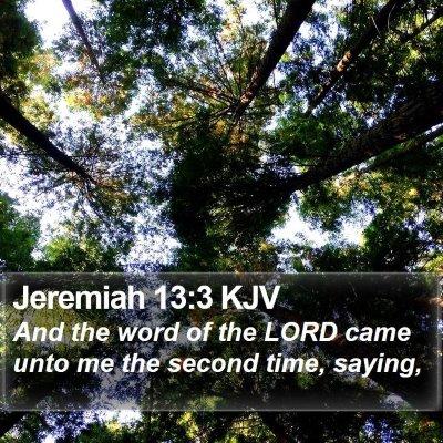 Jeremiah 13:3 KJV Bible Verse Image