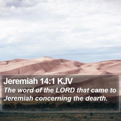 Jeremiah 14:1 KJV Bible Verse Image