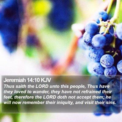 Jeremiah 14:10 KJV Bible Verse Image