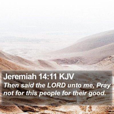 Jeremiah 14:11 KJV Bible Verse Image