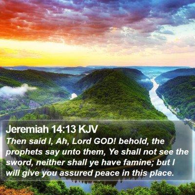 Jeremiah 14:13 KJV Bible Verse Image