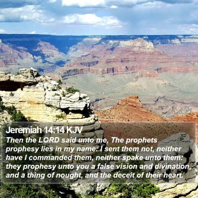 Jeremiah 14:14 KJV Bible Verse Image