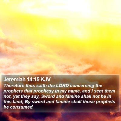 Jeremiah 14:15 KJV Bible Verse Image
