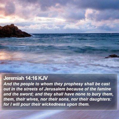 Jeremiah 14:16 KJV Bible Verse Image