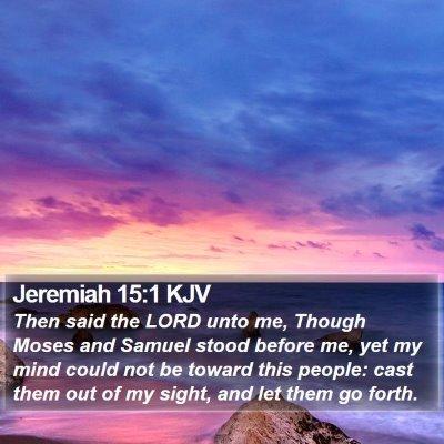 Jeremiah 15:1 KJV Bible Verse Image