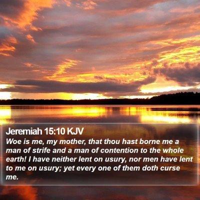 Jeremiah 15:10 KJV Bible Verse Image