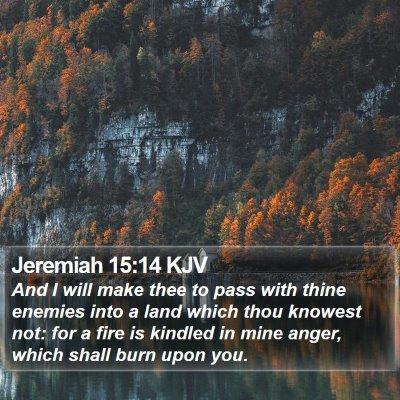 Jeremiah 15:14 KJV Bible Verse Image