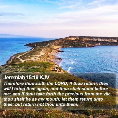 Jeremiah 15:19 KJV Bible Verse Image