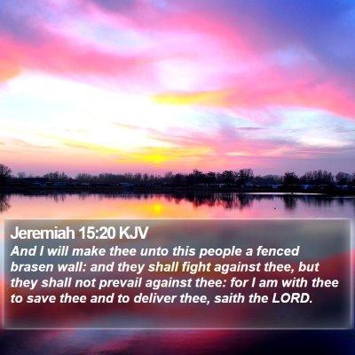 Jeremiah 15:20 KJV Bible Verse Image